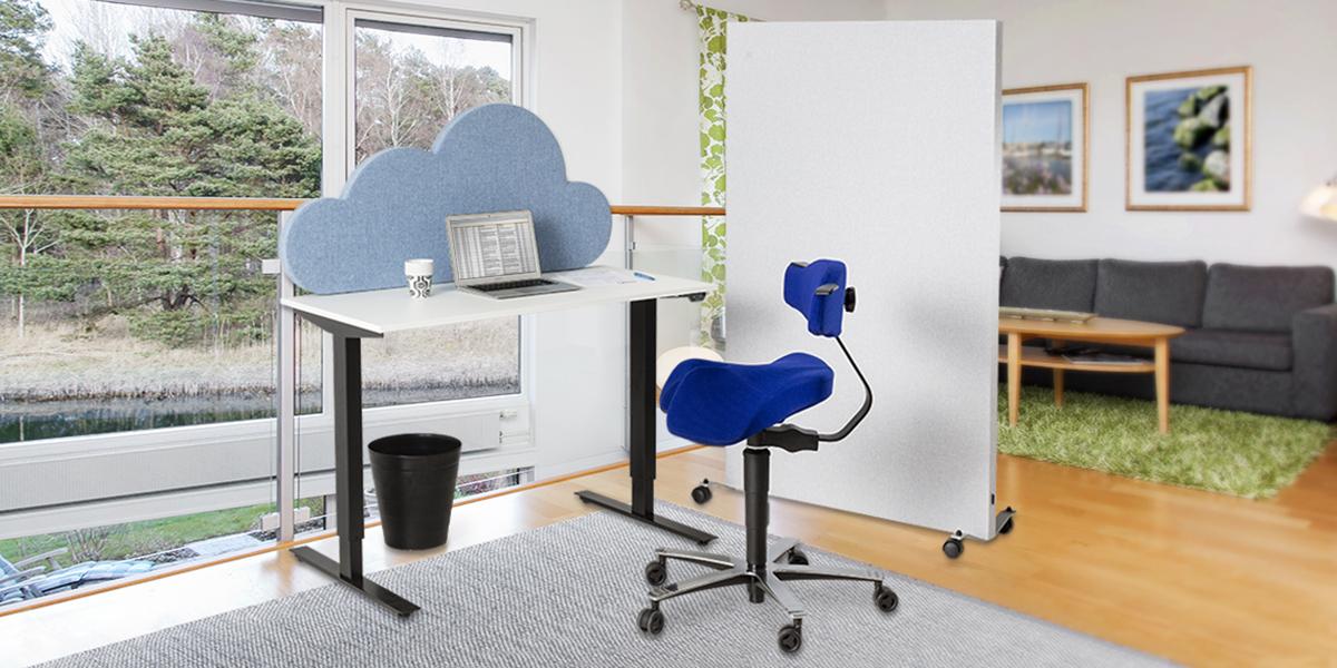 Hemkontoret-Jobba Hemifrån! Litet höj & sänkbart skrivbord! Välj din design! Svensktillverkat!
