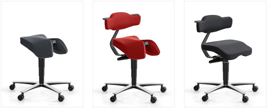 Unika moderna stolar för full ergonomisk arbetsplatsmiljö!