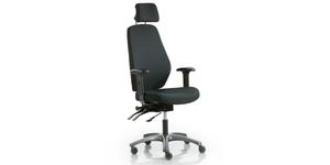 Kontorsstol med nackstöd, 55X, Offix