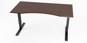 Skrivbord, höj- och sänkbart, maguttag, Sitt&Stå, Offix