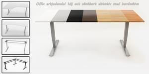 Offix elstativ SITT&STÅ med eller utan bordsskiva