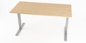 Skrivbord, höj- och sänkbart, rektangulärt B100-160, Sitt&Stå, Offix