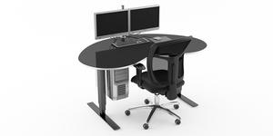 Gaming skrivbord med gamingstol, Offix