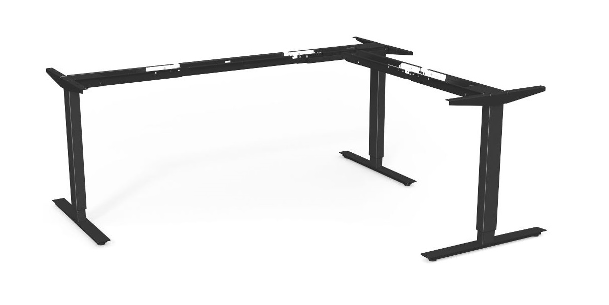 Elstativ för skrivbord, Sitt & Stå HS3x-R-3B, Offix