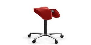 Ergonomisk kontorsstol, Sitt&Flex, Sadel, Offix